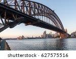 beautiful sunrise over opera... | Shutterstock . vector #627575516