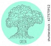 hand drawing doodle oak tree in ...   Shutterstock .eps vector #627575912