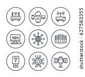 network  internet data...   Shutterstock .eps vector #627583355
