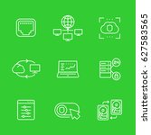 servers  networks icons set ... | Shutterstock .eps vector #627583565