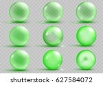 set of transparent and opaque... | Shutterstock .eps vector #627584072