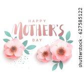 happy mother's day premium... | Shutterstock .eps vector #627585122