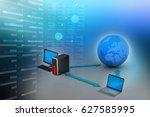 3d illustration of wireless...   Shutterstock . vector #627585995