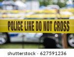 police tape | Shutterstock . vector #627591236