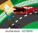 the car wants your money  ... | Shutterstock .eps vector #6276040