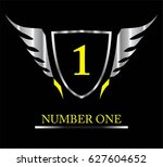 1. first. number one. winged... | Shutterstock .eps vector #627604652
