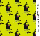 seamless vector pattern with... | Shutterstock .eps vector #627610196