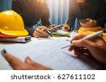 teamwork of business man... | Shutterstock . vector #627611102