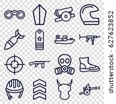 military icons set. set of 16... | Shutterstock .eps vector #627623852