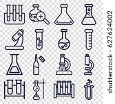 lab icons set. set of 16 lab... | Shutterstock .eps vector #627624002