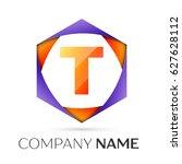 letter t vector logo symbol in...   Shutterstock .eps vector #627628112