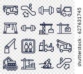 lift icons set. set of 16 lift...   Shutterstock .eps vector #627631745