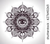 indian floral mandala with all...   Shutterstock .eps vector #627640265