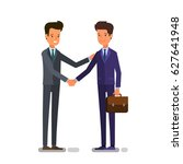 cartoon business people... | Shutterstock .eps vector #627641948