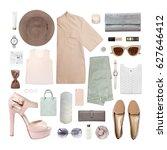 fashion blogger concept.... | Shutterstock . vector #627646412