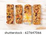 homemade gluten free granola... | Shutterstock . vector #627647066