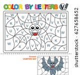 abc coloring book for children. ... | Shutterstock .eps vector #627658652