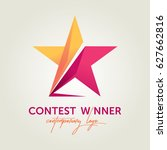 vector contest winner logotype | Shutterstock .eps vector #627662816