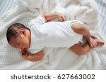 newborn baby sleeping in... | Shutterstock . vector #627663002