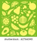 fruit and vegetables pattern | Shutterstock .eps vector #62766340
