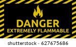 extremely flammable sign | Shutterstock .eps vector #627675686