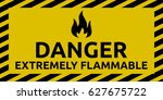 extremely flammable sign | Shutterstock .eps vector #627675722
