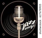 vector poster for the jazz...   Shutterstock .eps vector #627678905