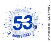 53rd anniversary logo with... | Shutterstock .eps vector #627679052