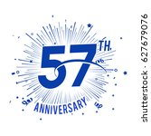 57th anniversary logo with... | Shutterstock .eps vector #627679076