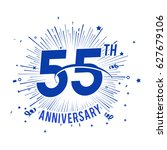 55th anniversary logo with... | Shutterstock .eps vector #627679106