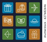 bow icons set. set of 9 bow... | Shutterstock .eps vector #627682646