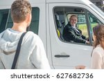 smiling professional driver in...   Shutterstock . vector #627682736
