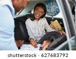 parents bringing newborn baby...   Shutterstock . vector #627683792