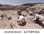 archaeologist working in field  ... | Shutterstock . vector #627689366