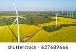 aerial view of wind turbines... | Shutterstock . vector #627689666
