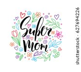 happy mother's day card.... | Shutterstock .eps vector #627694226