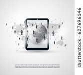 networks   business connections ... | Shutterstock .eps vector #627696146