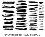 detail brush paint stroke...   Shutterstock .eps vector #627698972