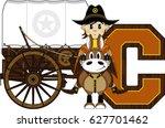 c is for cowboy alphabet... | Shutterstock .eps vector #627701462