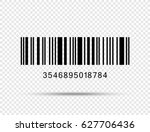 realistic barcode icon isolated | Shutterstock .eps vector #627706436