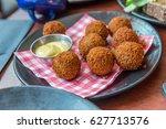 bitterballen  a typically dutch ...   Shutterstock . vector #627713576