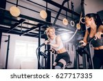 Two Girls Training On The...