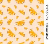 seamless pattern orange fruit....