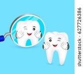 cute cartoon teeth smile to you ... | Shutterstock .eps vector #627726386