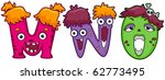 illustration of letters of the... | Shutterstock .eps vector #62773495