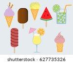 vector isolated summer flat... | Shutterstock .eps vector #627735326