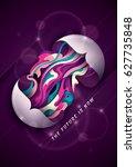 futuristic poster design in... | Shutterstock .eps vector #627735848