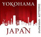 yokohama japan city skyline... | Shutterstock .eps vector #627735902