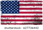 grunge american flag.vector... | Shutterstock .eps vector #627736442