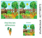 find ten differences between... | Shutterstock .eps vector #627738572
